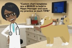 custom chart templates veterinary software