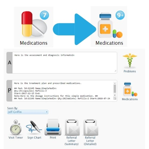 new medications widget hippo manager