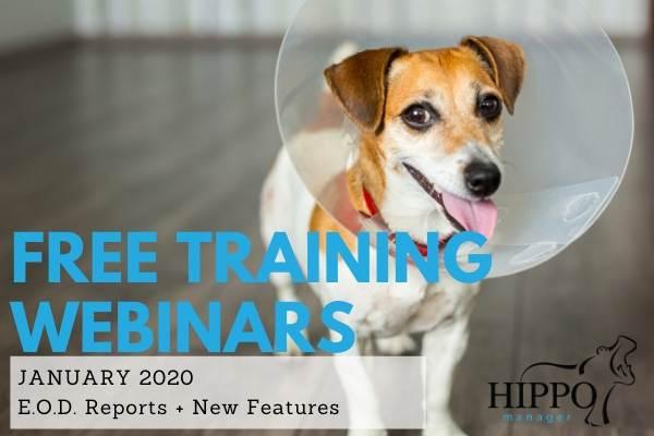 January 2020 free training webinars veterinary software
