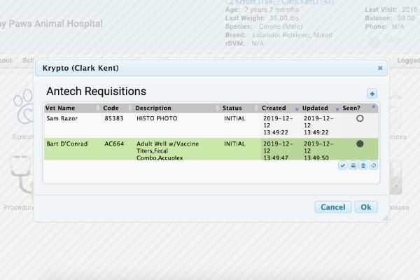 antech lab integration in hippo manager requisition