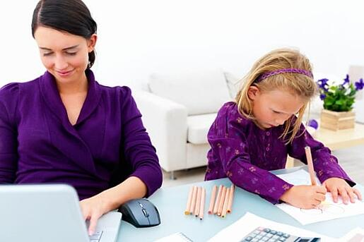 better work-life balance for veterinarians vet and family at home