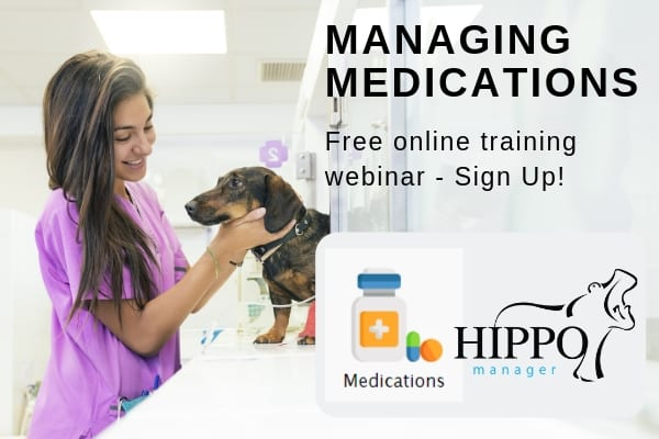 managing medications in veterinary software