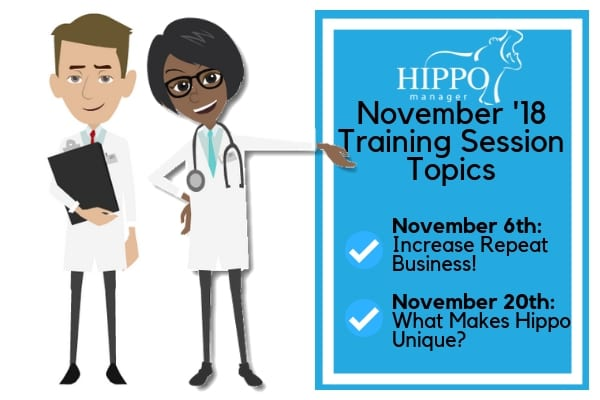 november training sessions and topics veterinary software