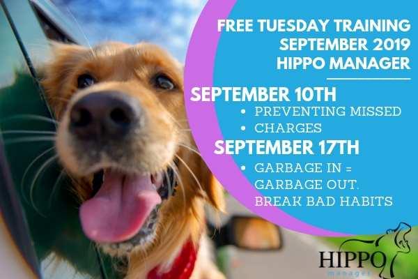 september 2019 free training webinars hippo manager dates