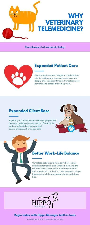 why veterinary telemedicine infographic