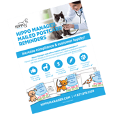 veterinary software reminder postcards
