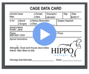 Veterinary Software Cage Cards
