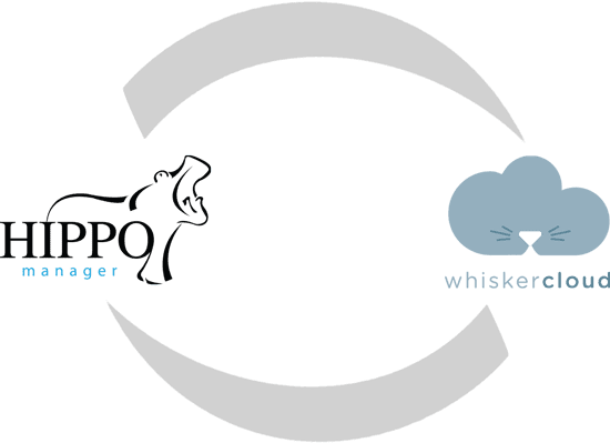 Hippo Manager and WhiskerCloud Integrated Logos