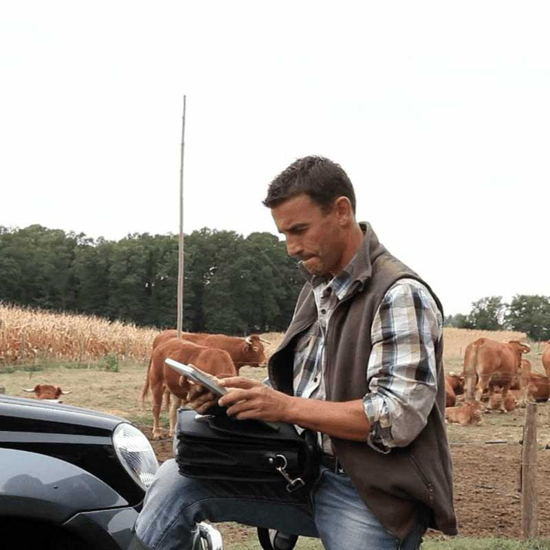 Mobile Veterinary Software In Field